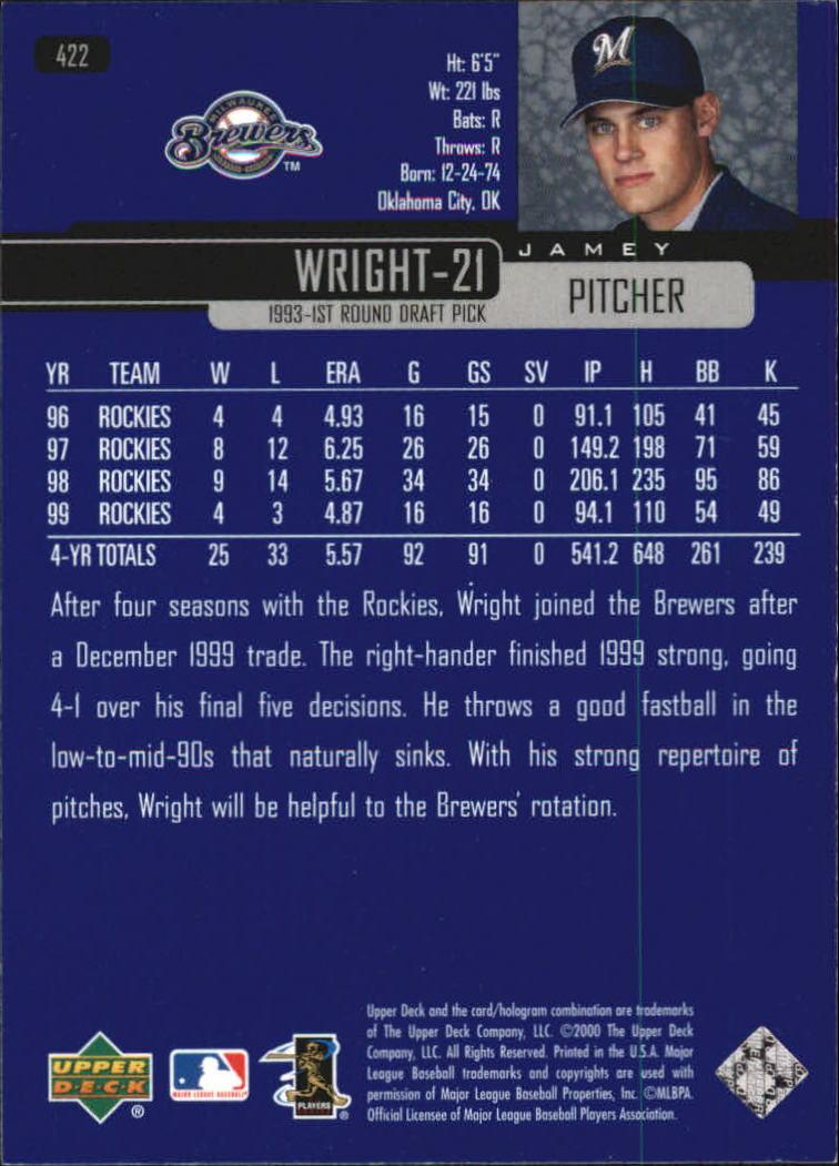 2000-Upper-Deck-Beisbol-Tarjeta-Recoger-274-540 miniatura 281
