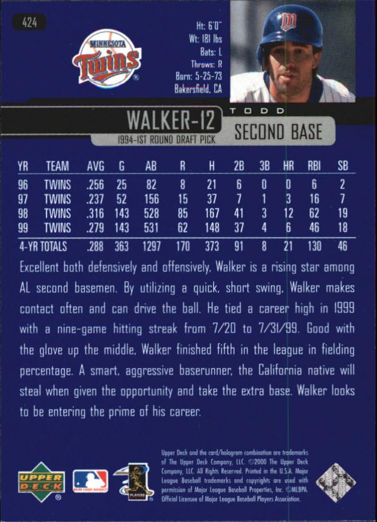 2000-Upper-Deck-Beisbol-Tarjeta-Recoger-274-540 miniatura 283