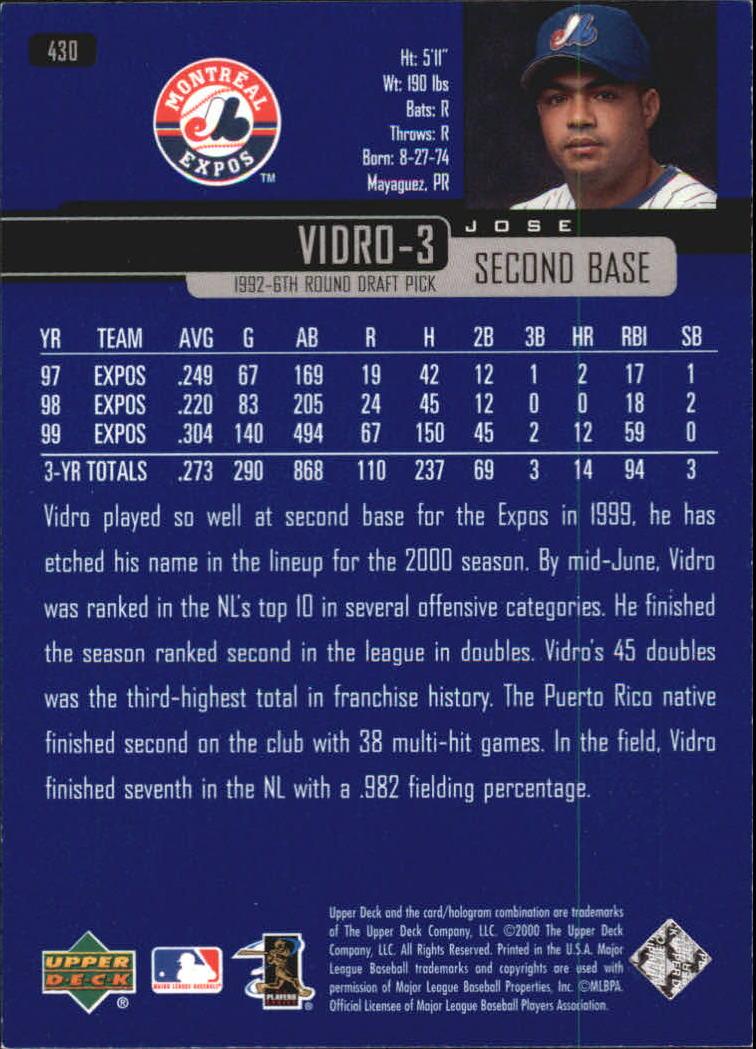 2000-Upper-Deck-Beisbol-Tarjeta-Recoger-274-540 miniatura 291