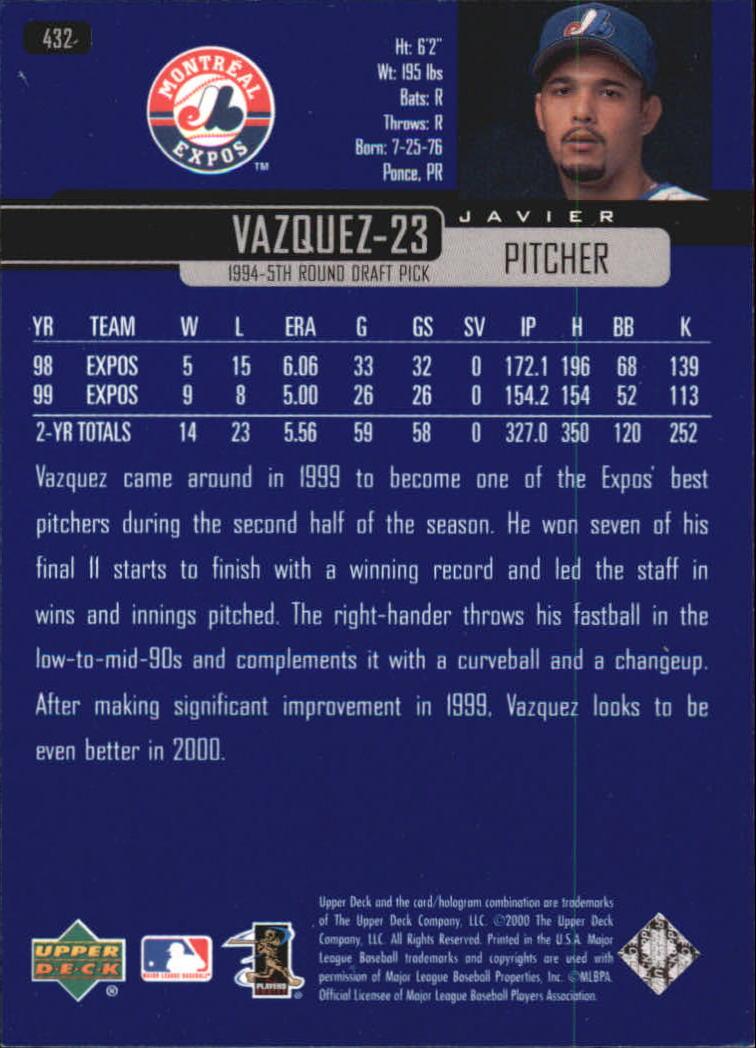 2000-Upper-Deck-Beisbol-Tarjeta-Recoger-274-540 miniatura 295