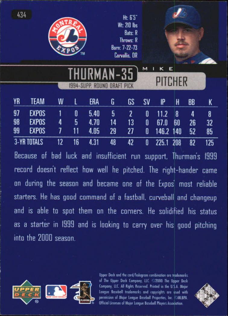 2000-Upper-Deck-Beisbol-Tarjeta-Recoger-274-540 miniatura 299