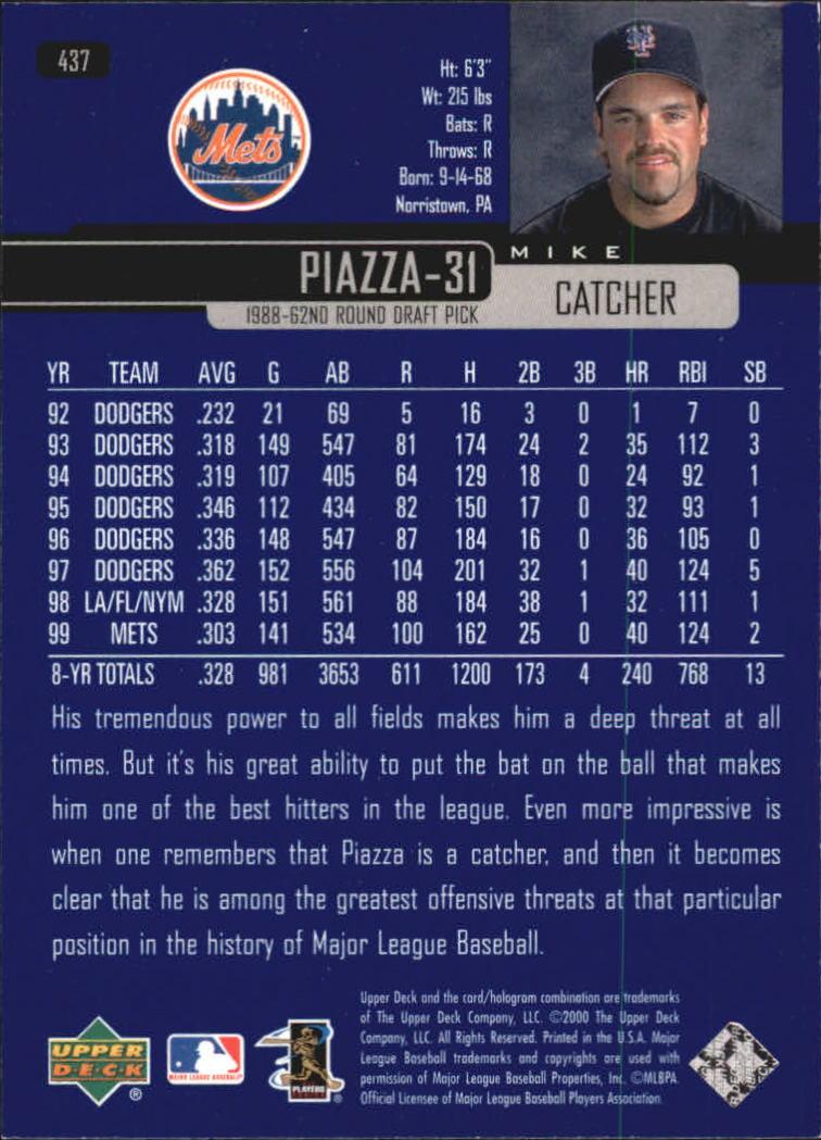 2000-Upper-Deck-Beisbol-Tarjeta-Recoger-274-540 miniatura 305