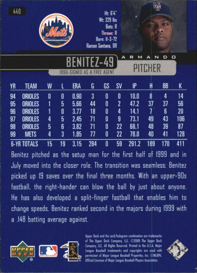 2000-Upper-Deck-Beisbol-Tarjeta-Recoger-274-540 miniatura 311