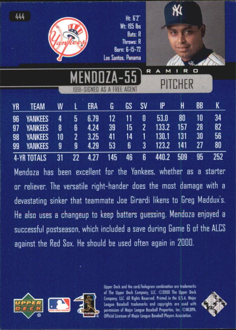 2000-Upper-Deck-Beisbol-Tarjeta-Recoger-274-540 miniatura 319