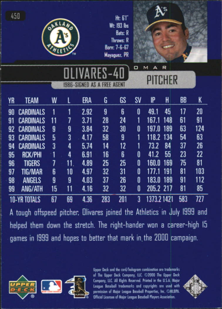 2000-Upper-Deck-Beisbol-Tarjeta-Recoger-274-540 miniatura 331