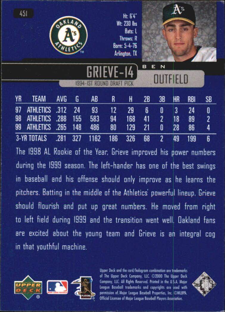 2000-Upper-Deck-Beisbol-Tarjeta-Recoger-274-540 miniatura 333