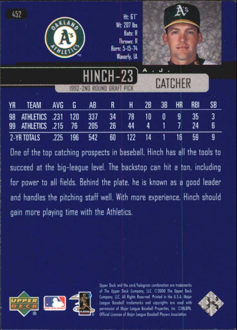 2000-Upper-Deck-Beisbol-Tarjeta-Recoger-274-540 miniatura 335