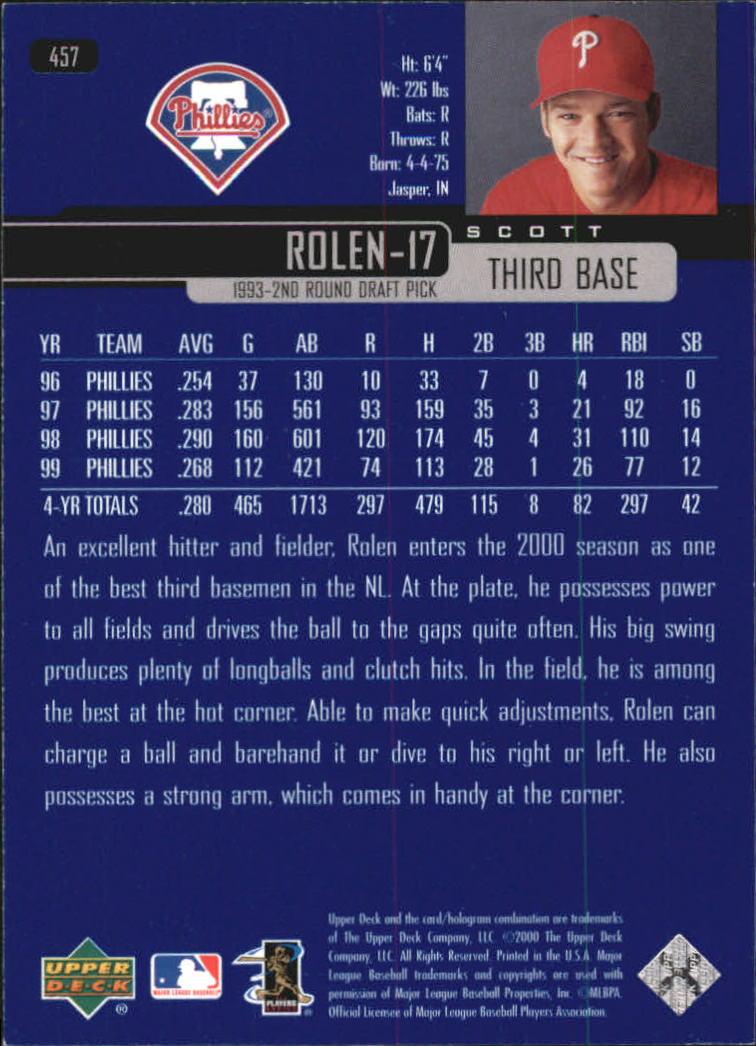 2000-Upper-Deck-Beisbol-Tarjeta-Recoger-274-540 miniatura 341