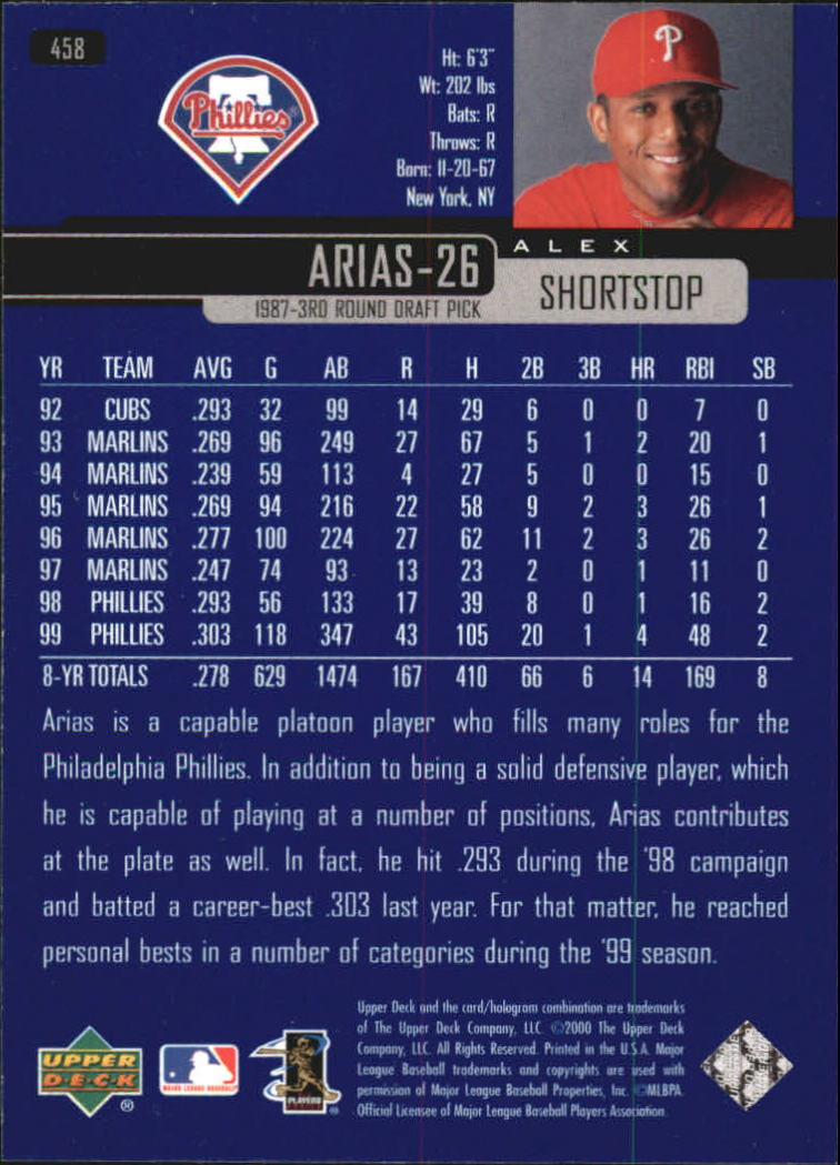 2000-Upper-Deck-Beisbol-Tarjeta-Recoger-274-540 miniatura 343