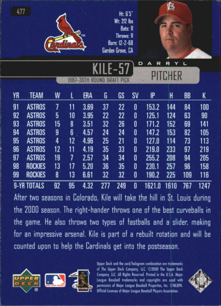 2000-Upper-Deck-Beisbol-Tarjeta-Recoger-274-540 miniatura 377