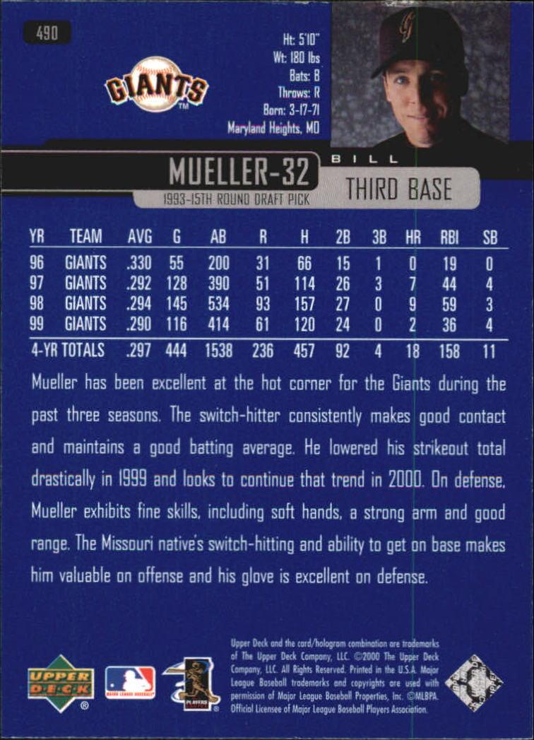 2000-Upper-Deck-Beisbol-Tarjeta-Recoger-274-540 miniatura 401