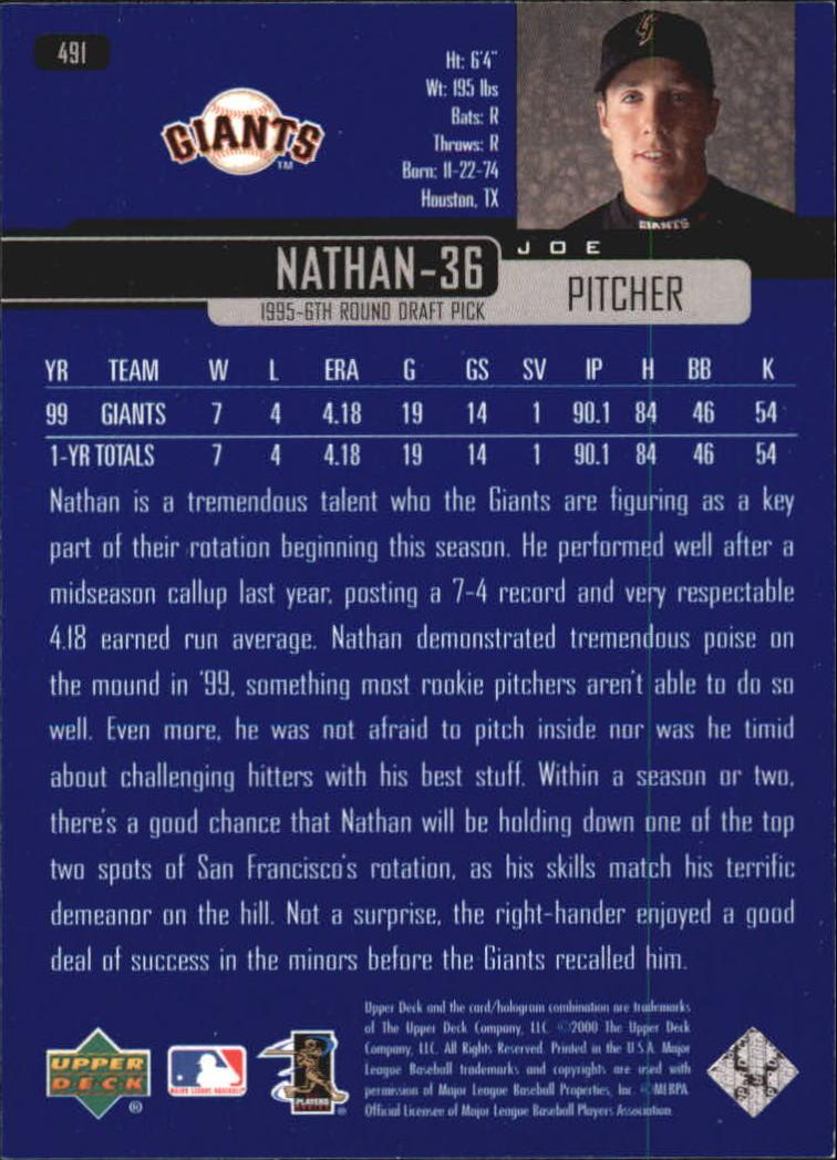 2000-Upper-Deck-Beisbol-Tarjeta-Recoger-274-540 miniatura 403