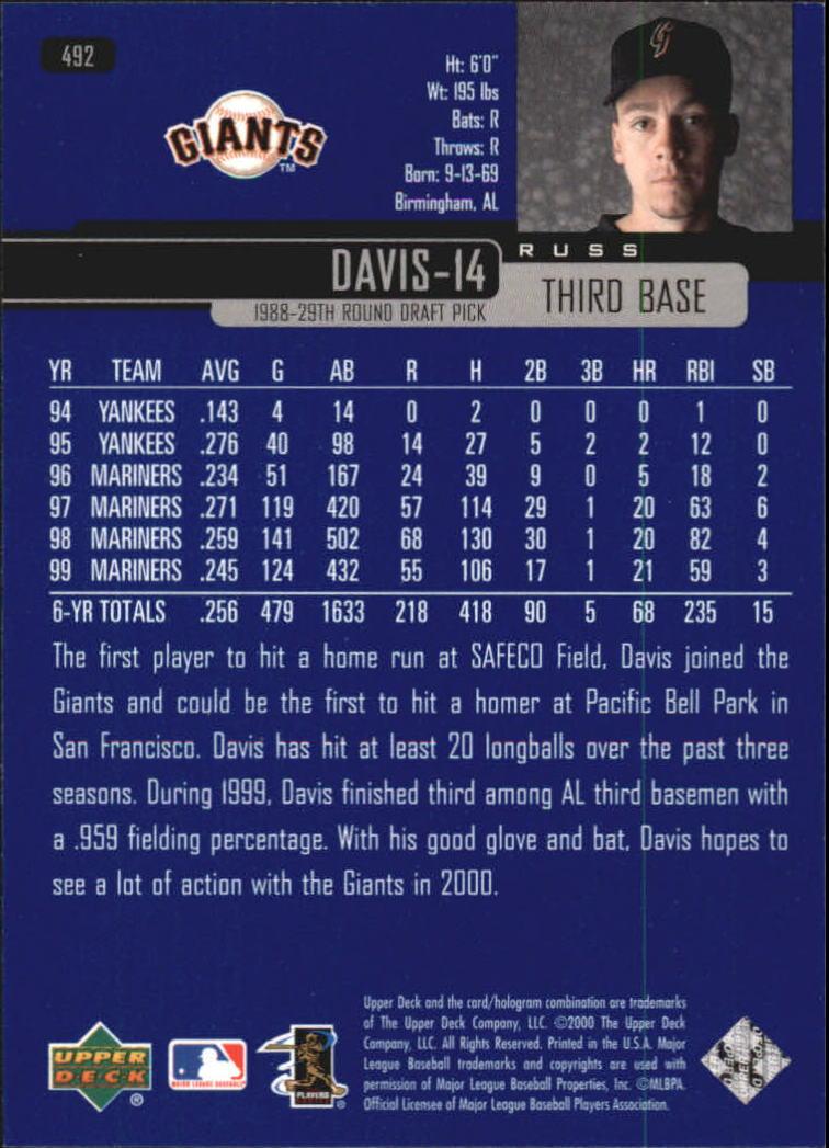 2000-Upper-Deck-Beisbol-Tarjeta-Recoger-274-540 miniatura 405