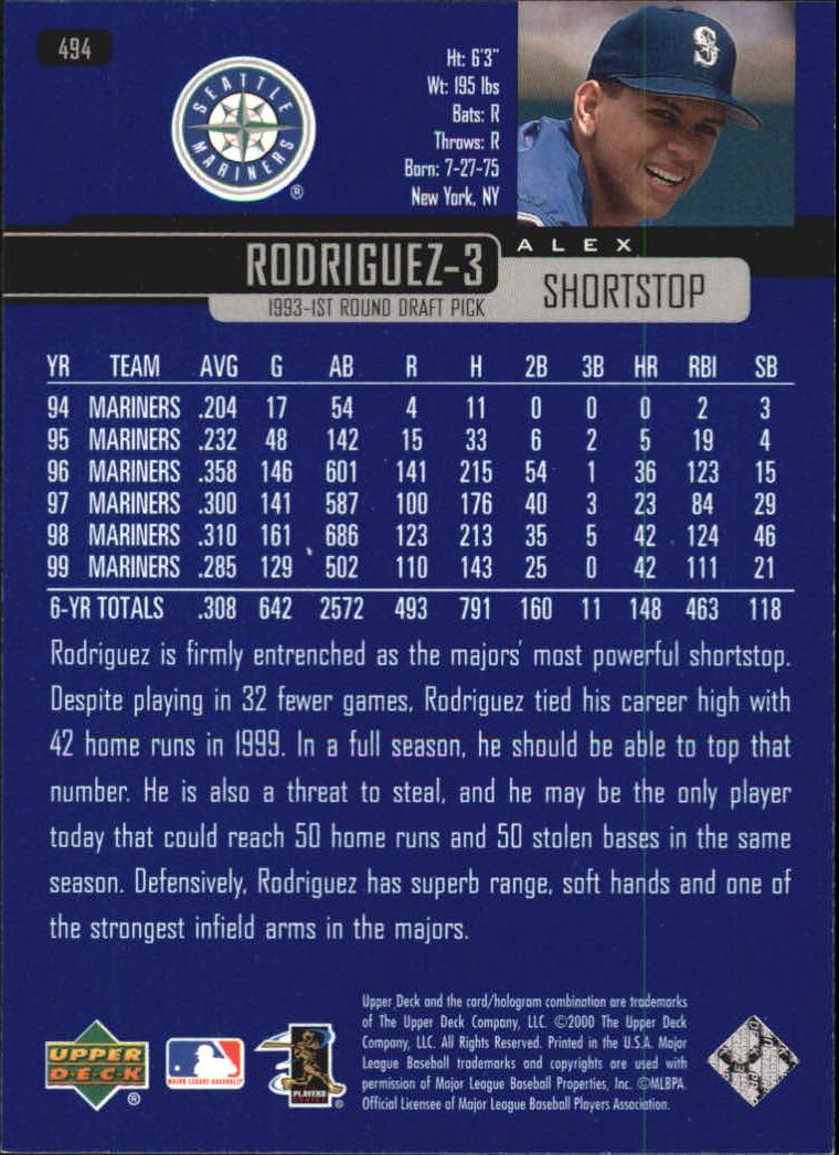2000-Upper-Deck-Beisbol-Tarjeta-Recoger-274-540 miniatura 409