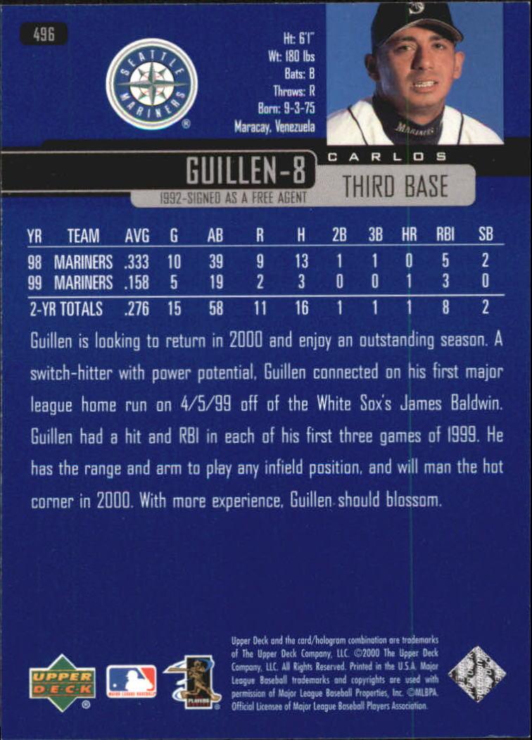 2000-Upper-Deck-Beisbol-Tarjeta-Recoger-274-540 miniatura 413