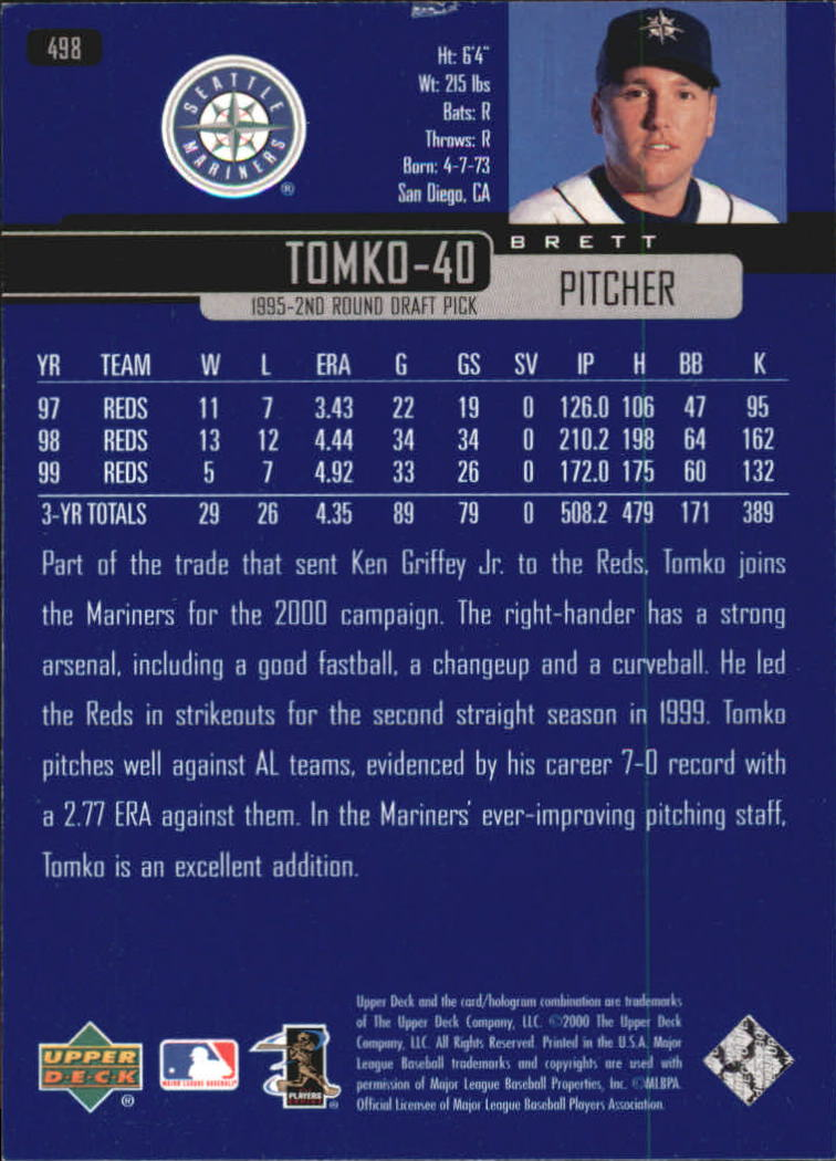 2000-Upper-Deck-Beisbol-Tarjeta-Recoger-274-540 miniatura 417