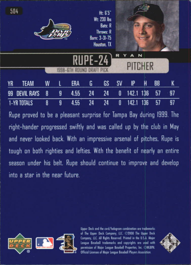 2000-Upper-Deck-Beisbol-Tarjeta-Recoger-274-540 miniatura 427