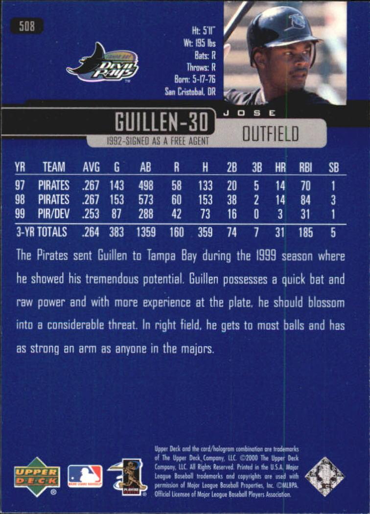 2000-Upper-Deck-Beisbol-Tarjeta-Recoger-274-540 miniatura 435