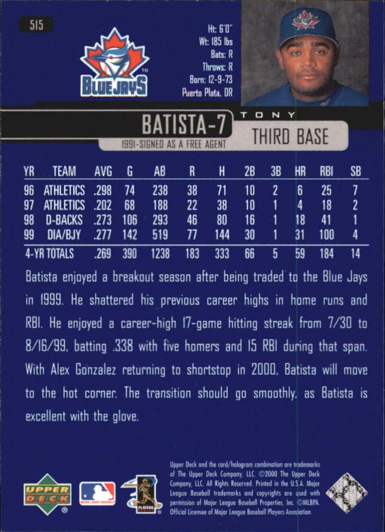 2000-Upper-Deck-Beisbol-Tarjeta-Recoger-274-540 miniatura 445