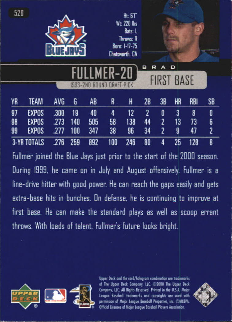 2000-Upper-Deck-Beisbol-Tarjeta-Recoger-274-540 miniatura 455