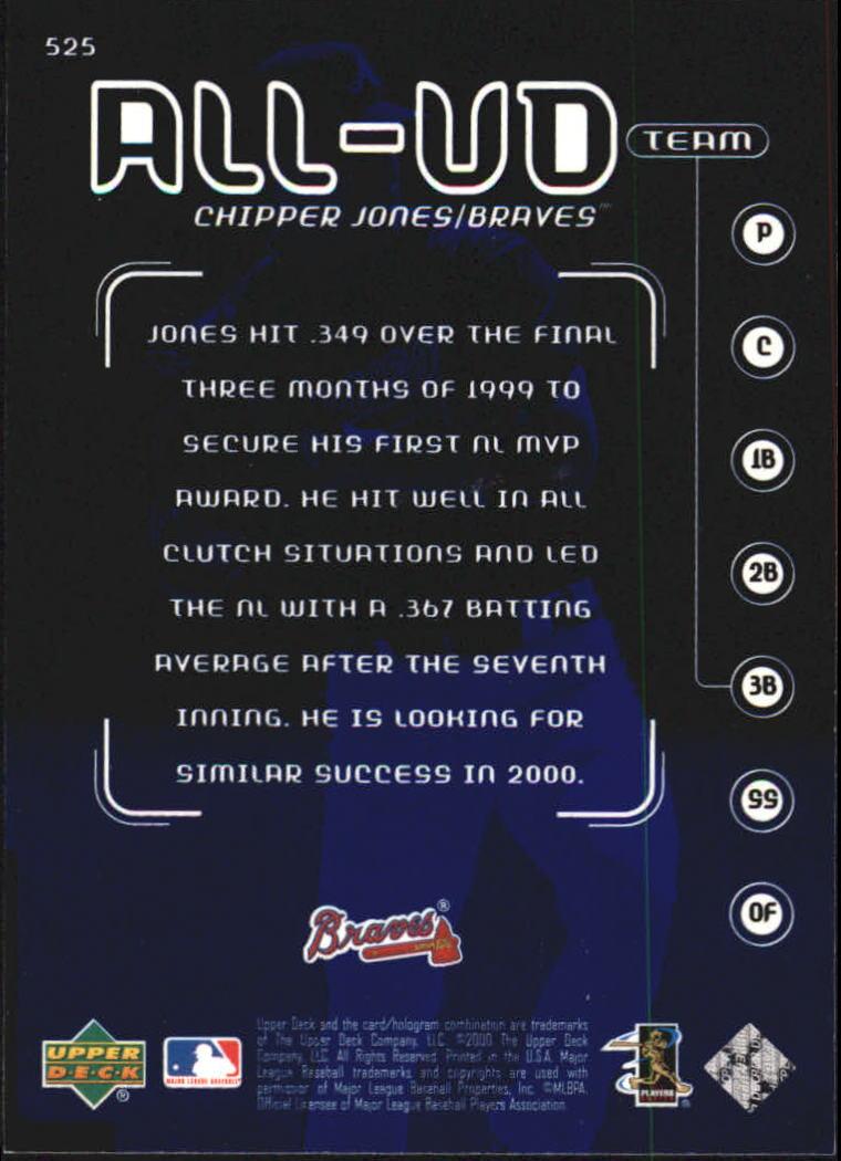 2000-Upper-Deck-Beisbol-Tarjeta-Recoger-274-540 miniatura 461