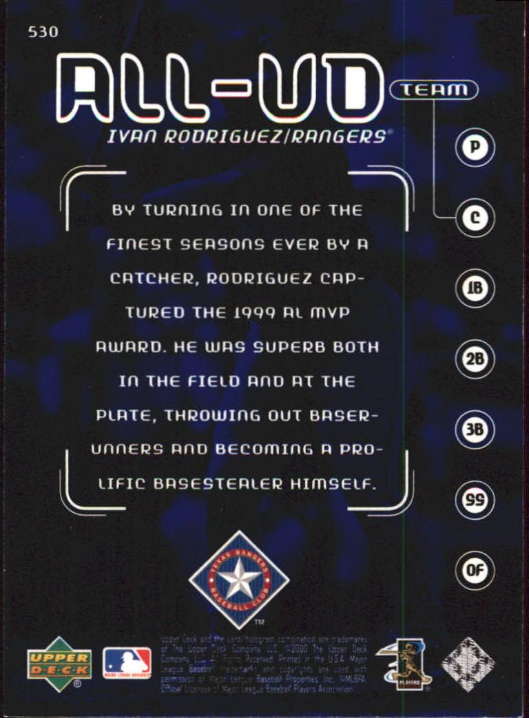 2000-Upper-Deck-Beisbol-Tarjeta-Recoger-274-540 miniatura 467