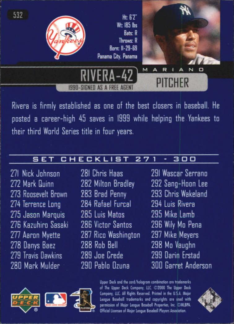2000-Upper-Deck-Beisbol-Tarjeta-Recoger-274-540 miniatura 471