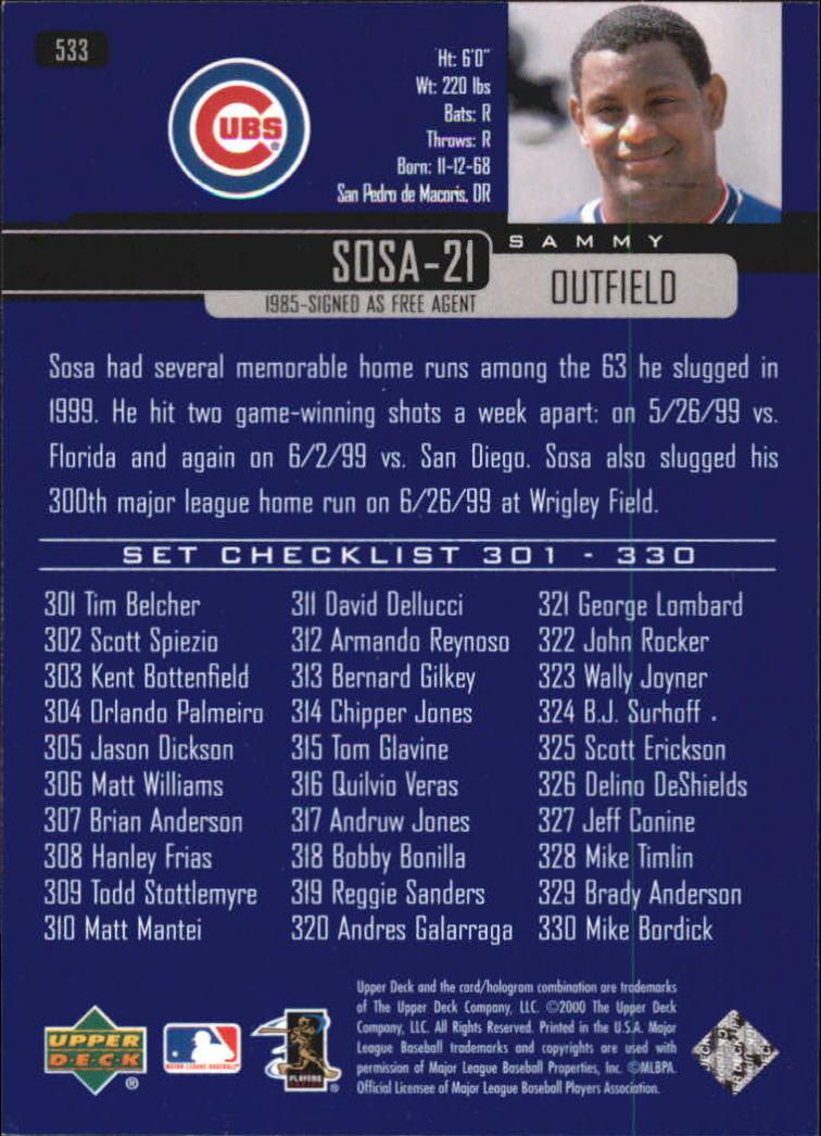 2000-Upper-Deck-Beisbol-Tarjeta-Recoger-274-540 miniatura 473