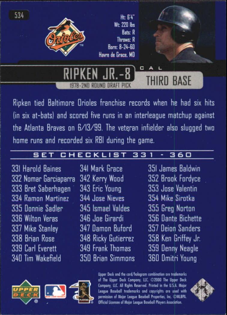 2000-Upper-Deck-Beisbol-Tarjeta-Recoger-274-540 miniatura 475