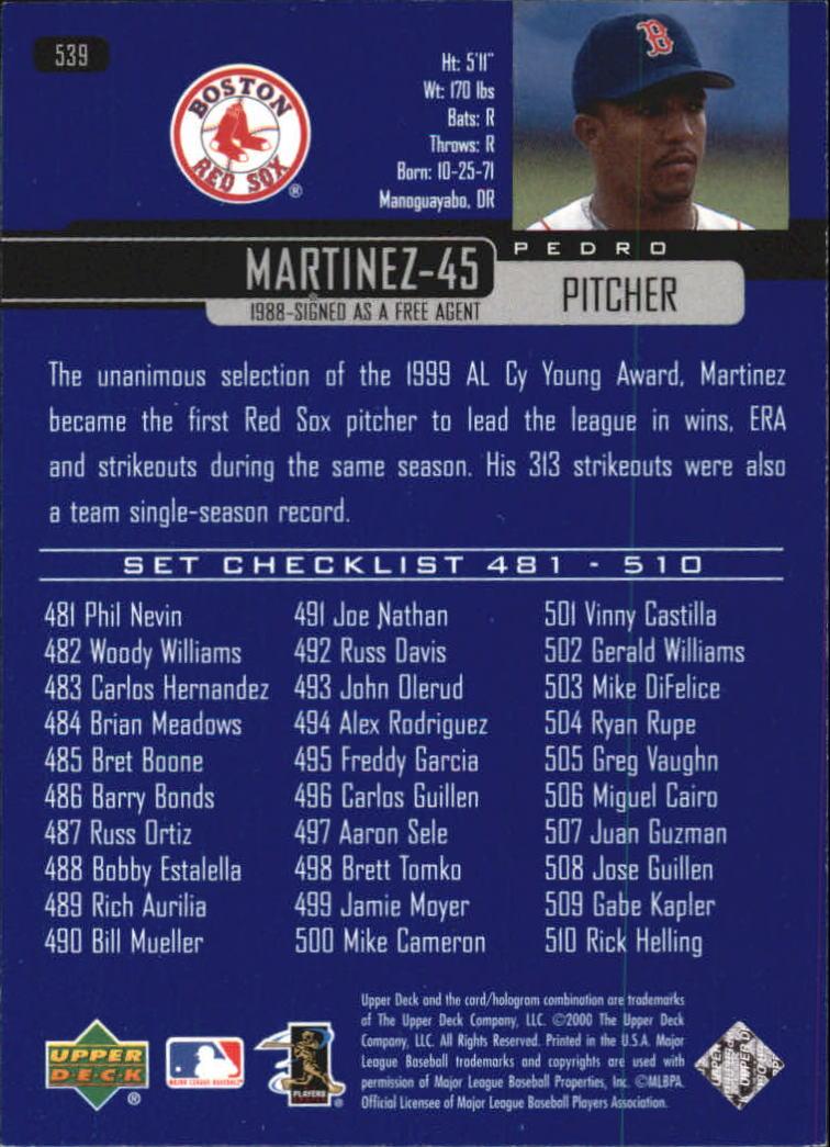 2000-Upper-Deck-Beisbol-Tarjeta-Recoger-274-540 miniatura 485