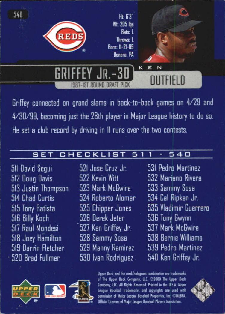 2000-Upper-Deck-Beisbol-Tarjeta-Recoger-274-540 miniatura 487