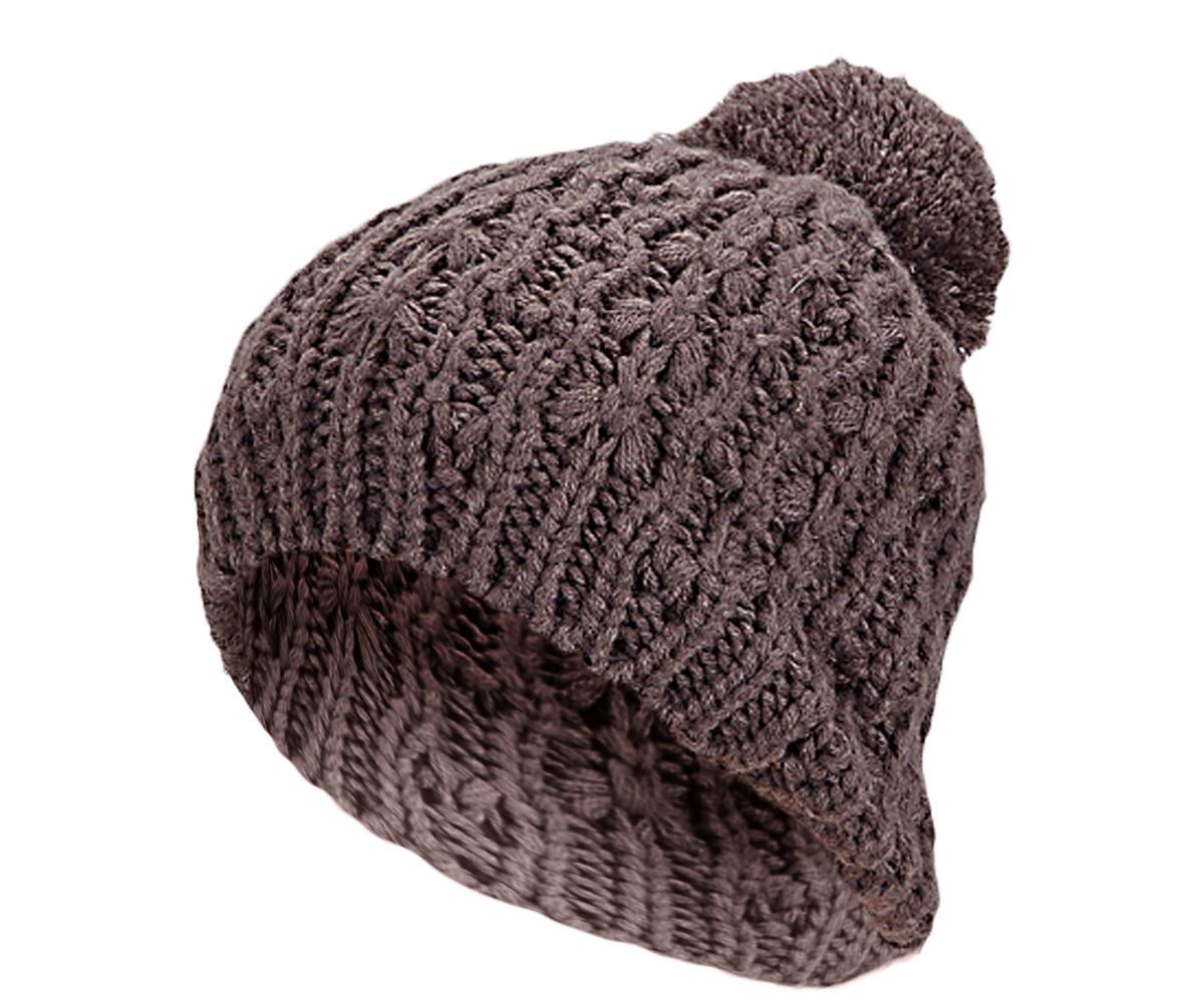 femme homme bonnet tricot hiver avec pompon grossi rement d 39 hiver couleur unie ebay. Black Bedroom Furniture Sets. Home Design Ideas