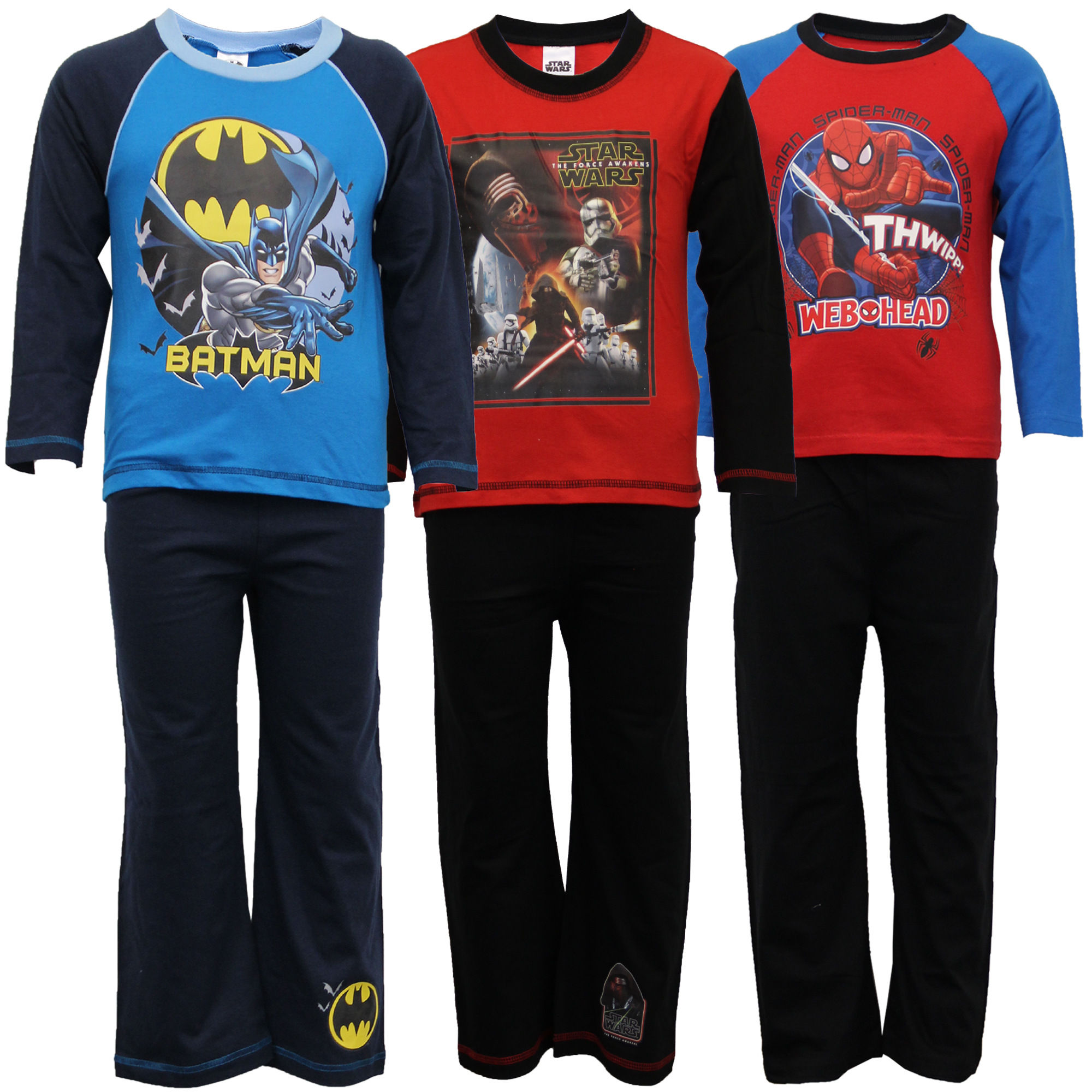 Pijama-nino-infantil-SET-BATMAN-SPIDERMAN-Top-Estampado-Pantalones-de-Marvel