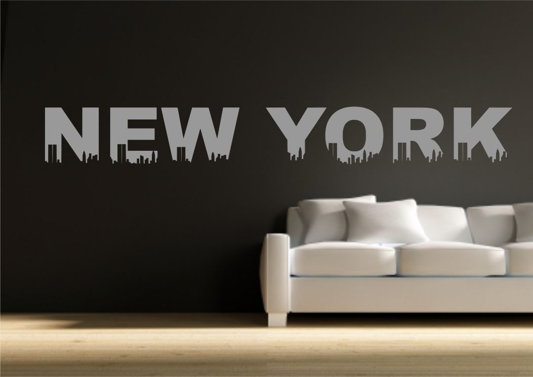 New york a th me autocollant d calque transfert de mur for Autocollant mural new york