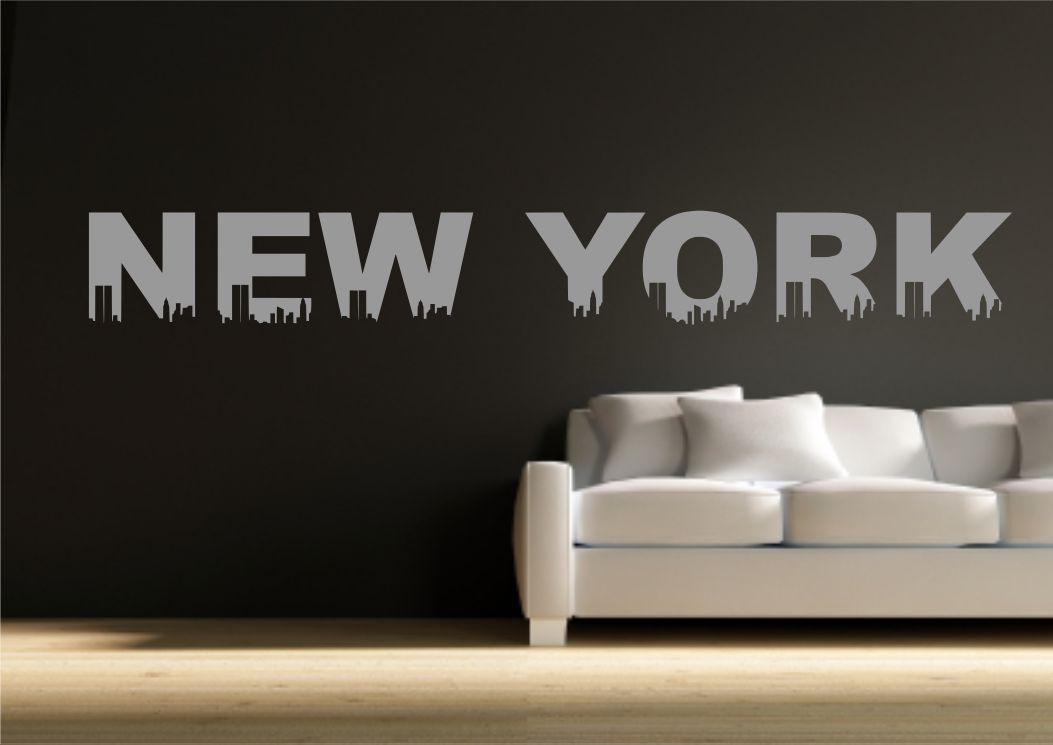 New york a th me autocollant d calque transfert de mur for Acheter pochoir mural