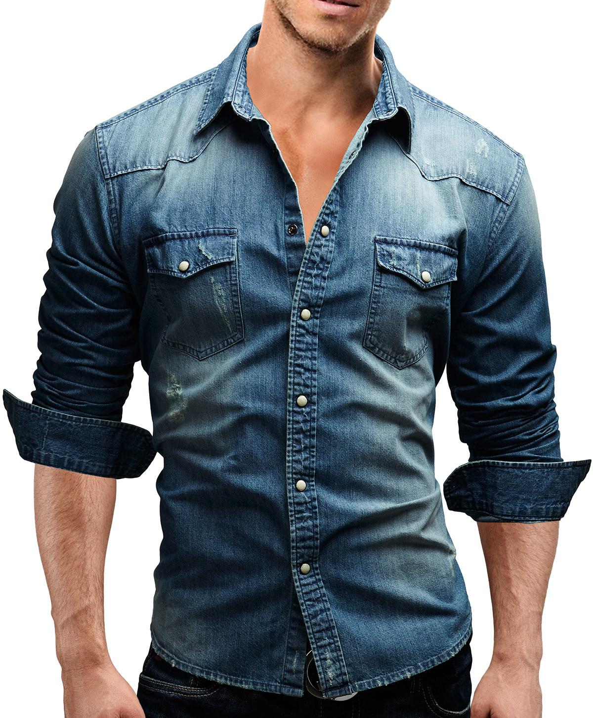 Merish Chemise Homme Jeans Slim Fit Coup D 39 Oeil Utilis
