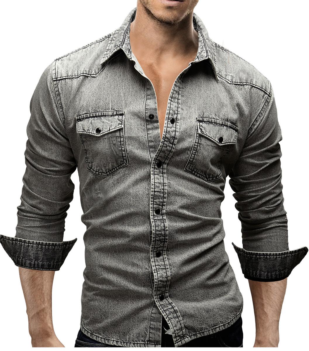 merish chemise homme jeans slim fit coup d 39 oeil utilis style pr s du corps ebay. Black Bedroom Furniture Sets. Home Design Ideas