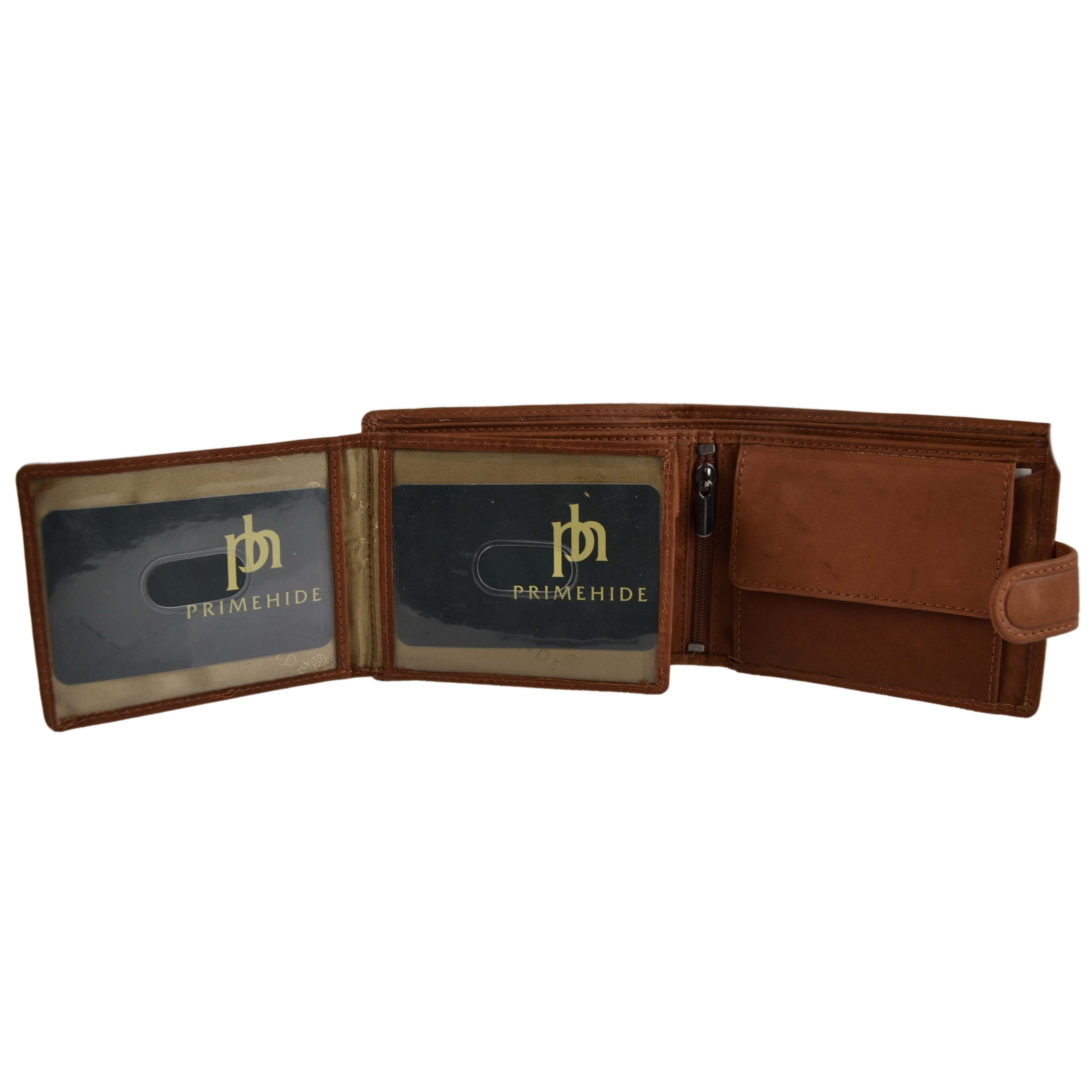 Mens-Quality-Leather-Wallet-by-Prime-Hide-Gift-Boxed-Stylish-with-Coin-Pocket thumbnail 21