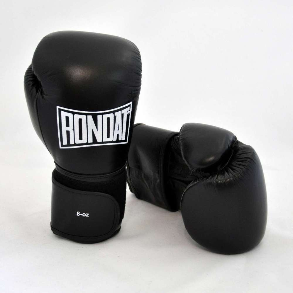 RONDAT Boxe Gants de Boxe RONDAT 8 jusqu'à 16 oz Muay Thai Kickboxing boîtes Noir 118605