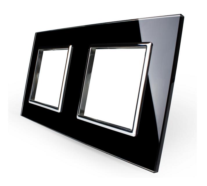 Design-Interrupteur-de-lumiere-mural-Commutateur-a-bascule-a-Cadre-en-verre