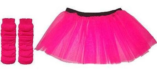 Pink Neon Tutu Rock Fancy Dress Junggesellinnenabschied Party UV ...