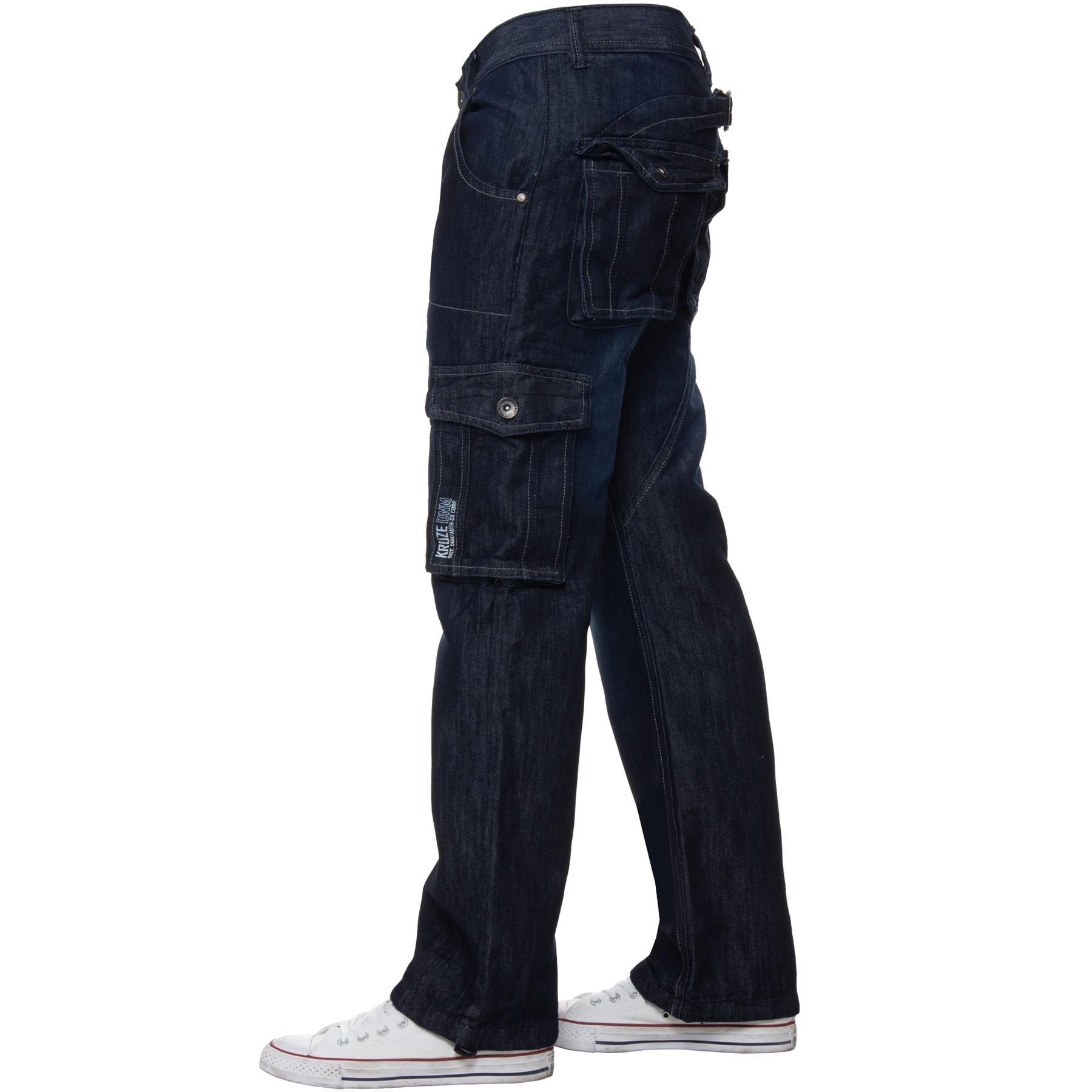 Kruze Hombre Cargo Combate Vaqueros Casual Trabajo Pantalones Grande Alto Todo Ebay