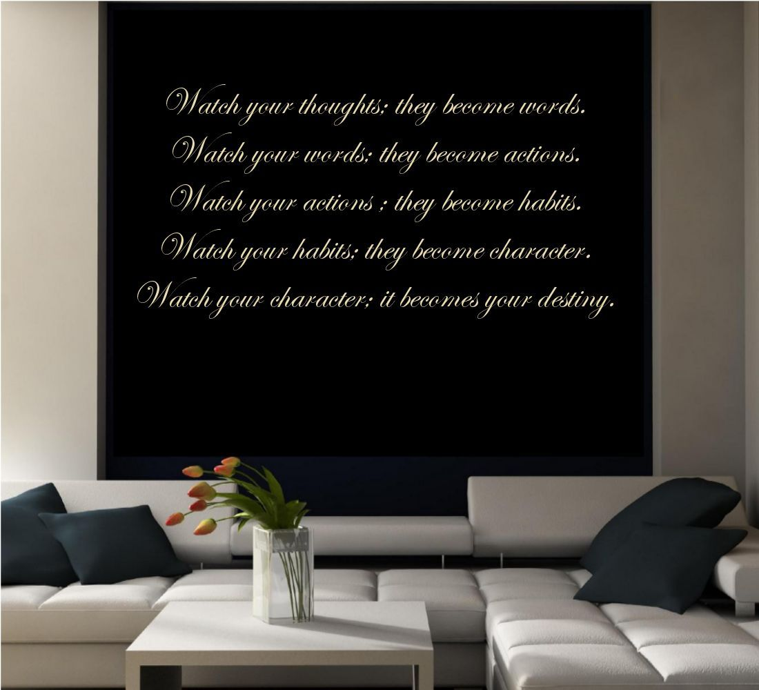 OUR DESTINY WALL ART LIVING ROOM QUOTE PHRASE STICKER VINYL DECAL ...