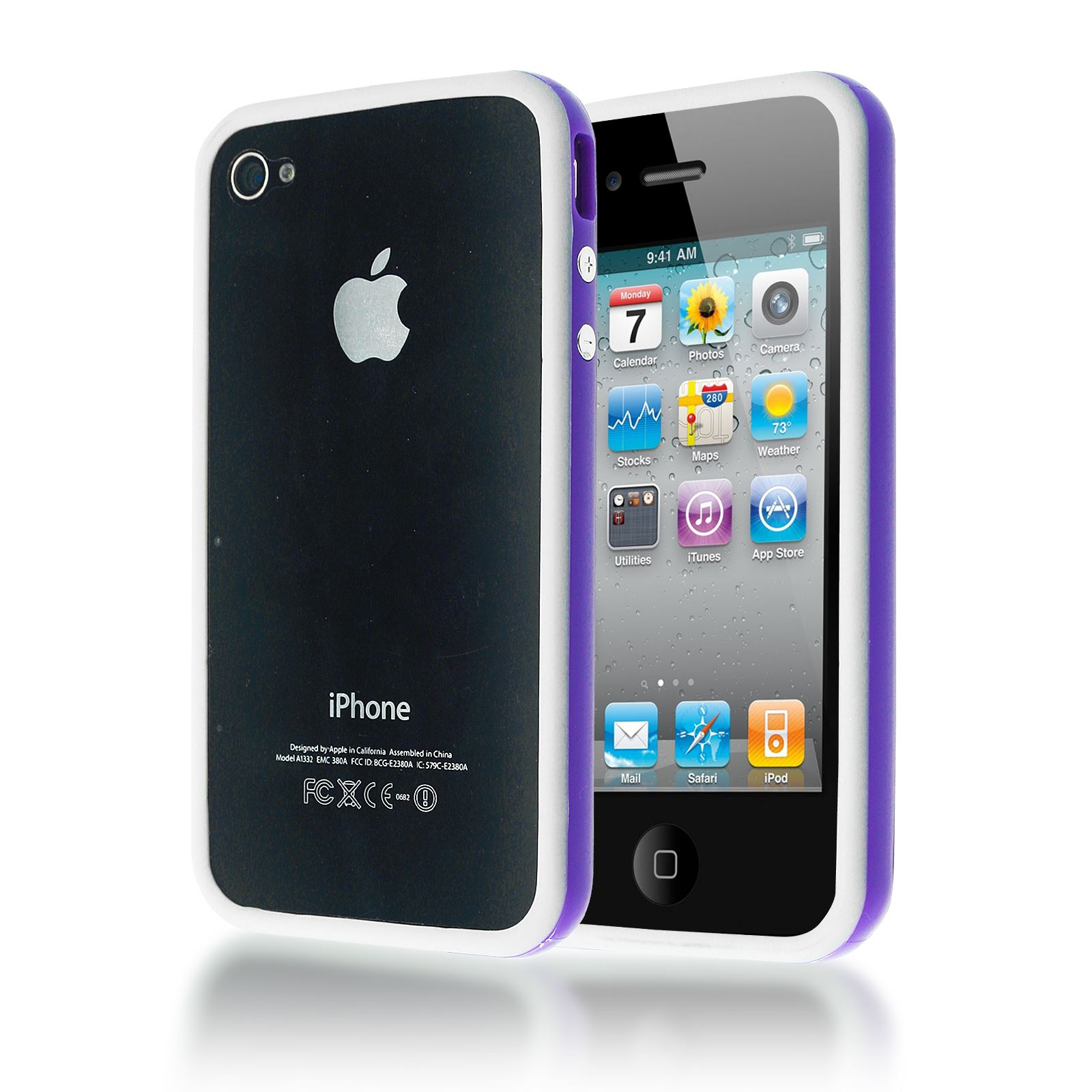 Dual couleur coque w encastr boutons silicone tui for Etui housse iphone 4