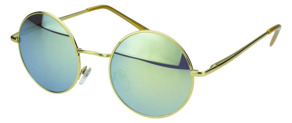 Sense42 retro lunettes de soleil rond verres effet miroir for Miroir flexible
