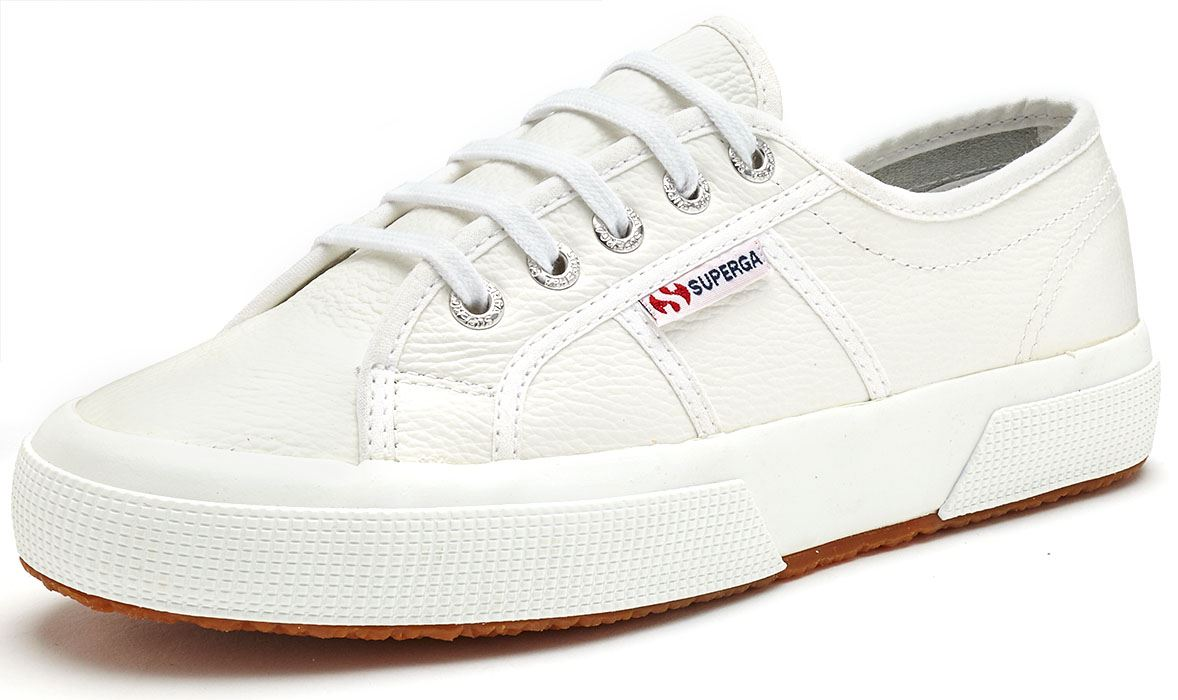 günstig auf Lager vollständige Palette von Spezifikationen Details zu Superga 2750 Efglu Leder Turnschuhe Schuhe in Weiß & Schwarz 900  & 999