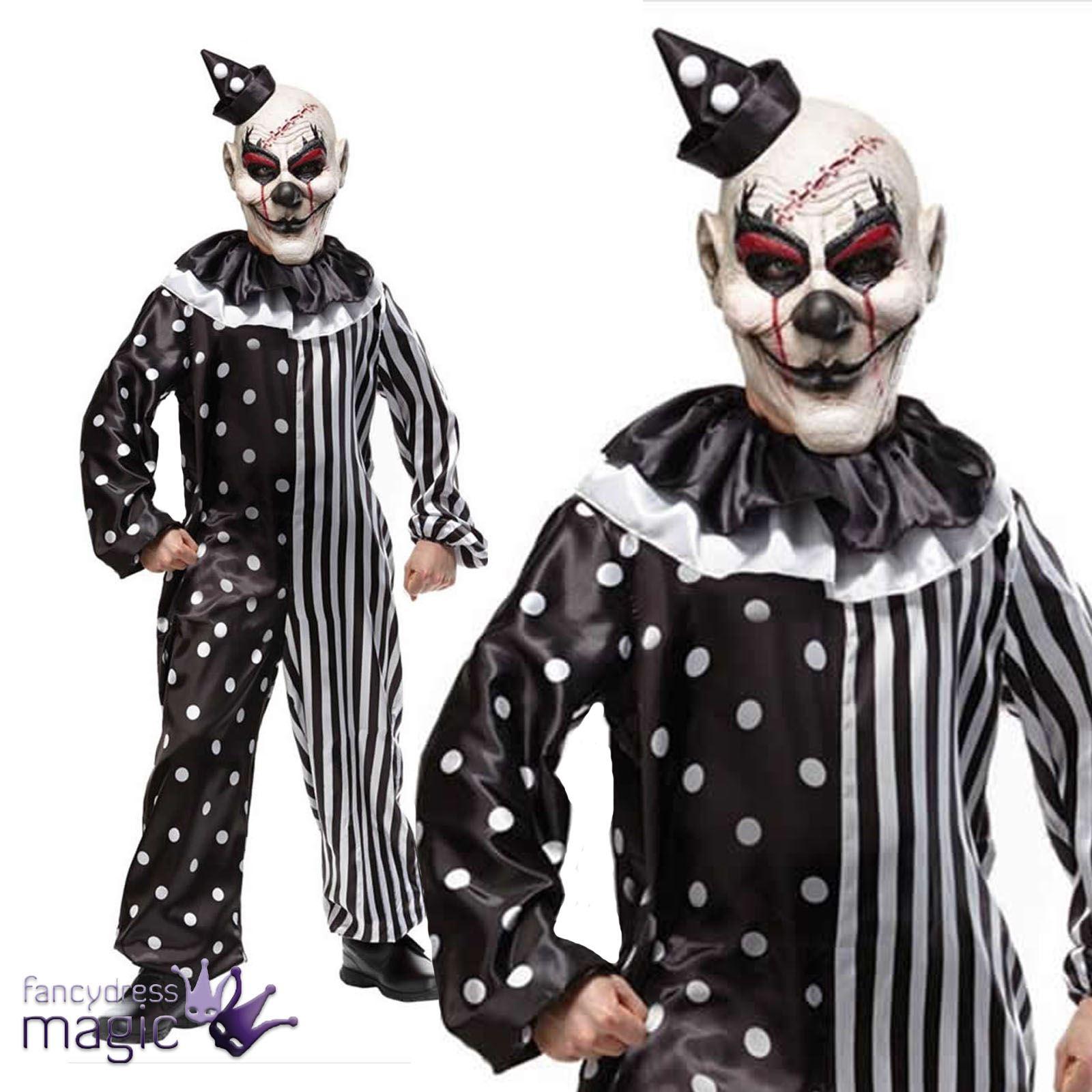 infantil-EVIL-KILLJOY-KLOWN-Payaso-Disfraz-de-horror-para-Halloween-amp