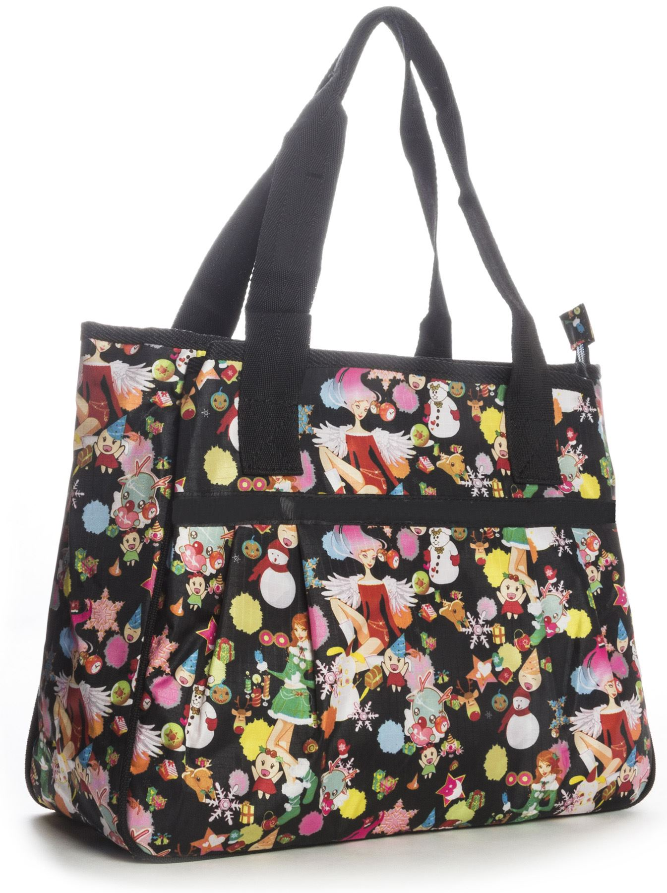 Big Handbag Shop Unisex Taschen Mit Reißverschluss Cartoon Leicht Tragetasche
