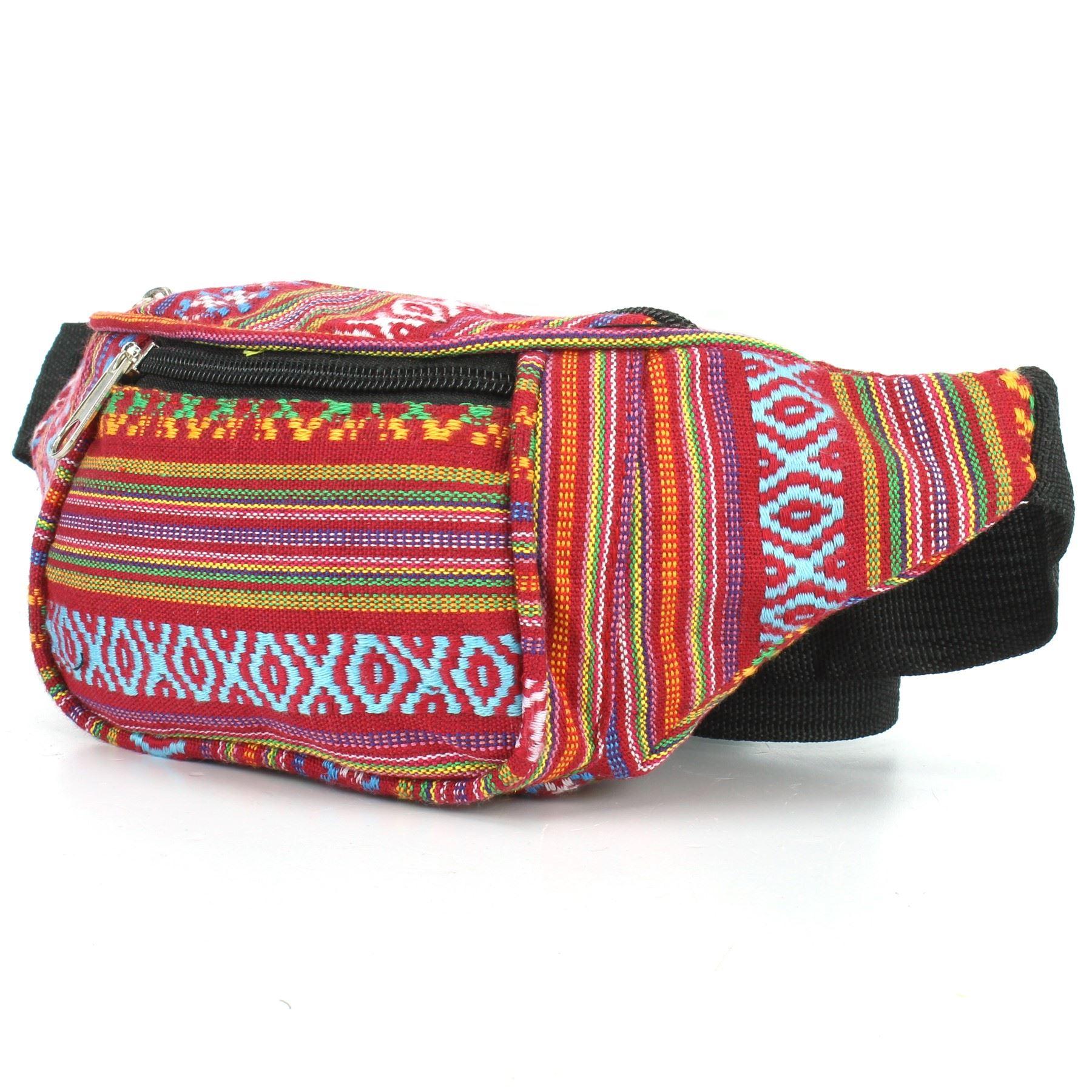 Detalles de Riñonera Dinero Cinturón Fanny Paquete Bolsa Lona Cintura Hippy Festival