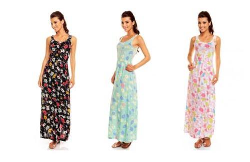 New ladies boho daisy jersey maxi summer holiday evening dress ebay
